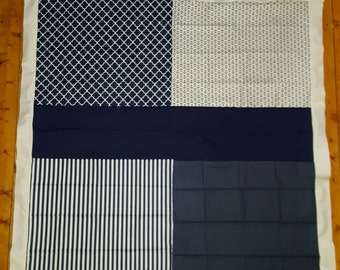 Unfinished navy and white quilt top LDT114