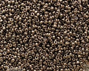 11/0 Metallic Dark Bronze Miyuki Seed Beads - 10 grams - 11/0 Metallic Bronze Seed Beads - 1328 - Miyuki 457