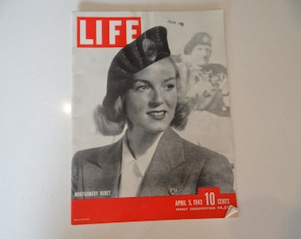 1943 Life Magazine War Issue , April 5, Montgomery Beret - War Living - Army Air Force - Navy