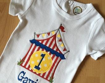 Big Top Circus Birthday Shirt - Free Shipping