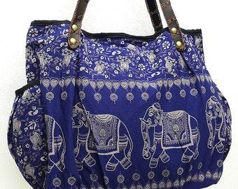 Women bag Handbags Thai Cotton bag Elephant bag Hippie bag Hobo bag Boho bag Shoulder bag Tote bag Diaper bag Everyday bag Purse Nav...