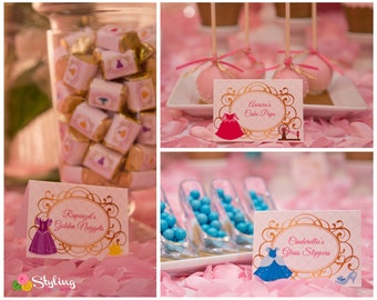 Disney Princess Inspired Tent Cards