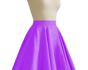 JULIETTE Violet Purple Rockabilly Swing Rock 'n Roll Skirt//Full Circle Black Skirt//Retro Mod 50s style Skirt//Party Skirt XXS-3X