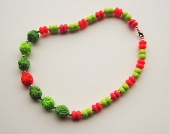 Childrens Elastic Beaded Necklace