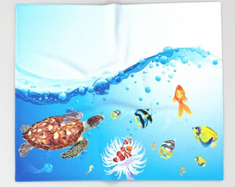 Aquarium Blanket Fleece Surealism Blanket Fleece Blanket Kid Blanket Modern Blanket Art Blanket Cozy Blanket Elephant Blanket Soft blanket