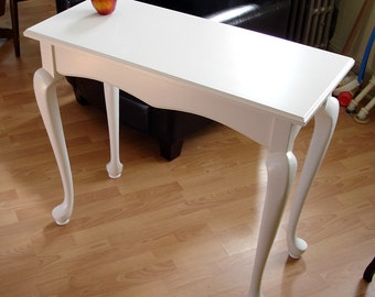 "Hall, Sofa, Foyer, Entry Table, 15"" x 34"" Cabriole Legs, Dune White"