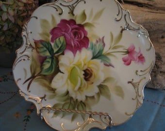 ESD porcelain decorative plate. Wall plate, Peony, decoration.