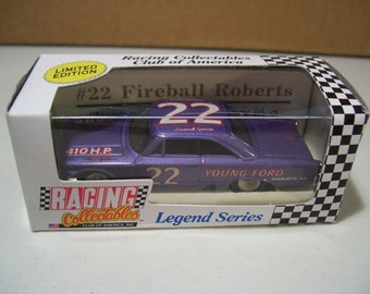 Vintage RCCA Legend Series Fireball Roberts #22 Young Ford Die Cast Car, Limited Edition 1991