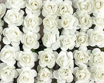 144 White Paper Roses