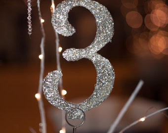 GLITTER TABLE NUMBERS (set)