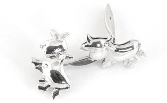 Authentic… Stylish....Chopard Sterling, Silver Cow Cufflinks !