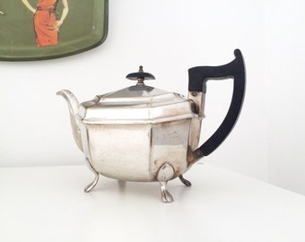 Art deco teapot silver plated made in Sheffield England