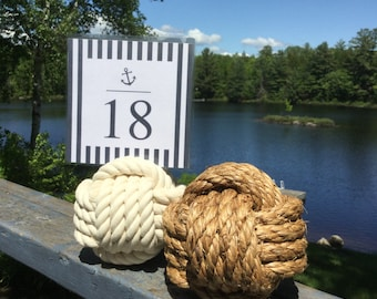 Nautical Wedding - 6-8 Nautical Rope Table Number Holders  - Nautical Wedding Decorations