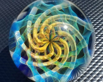 Hand Made Glass Marble by Jason Holley