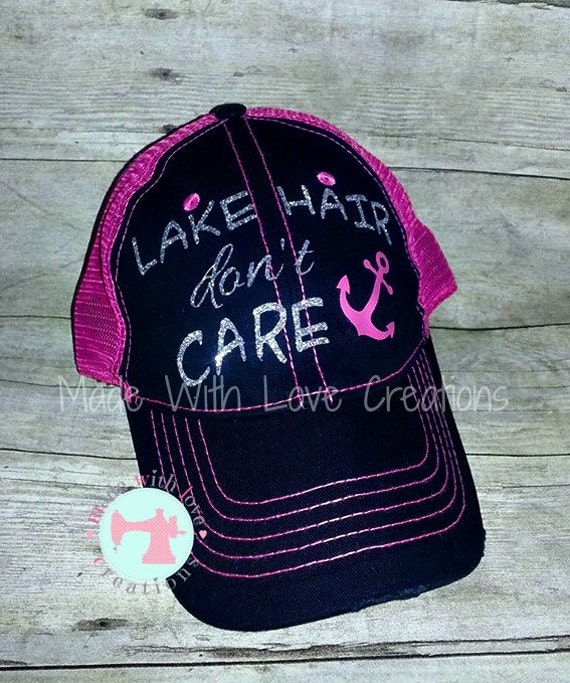 custom trucker hat custom baseball hat lake hair don t by