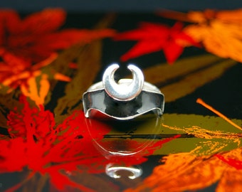 """Samurai Crest Ring """"Horn"""" Black"""