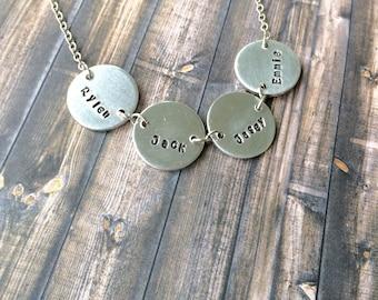 Mom necklace, Grandma Necklace, Nana Necklace, Mommy necklace, mom of 4 necklace, mom of boys necklace, mom of girls necklace
