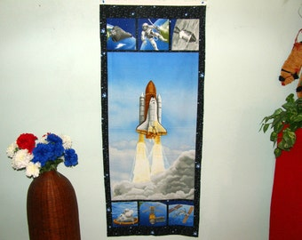 Astronaut fabric etsy for Outer space fabric panel