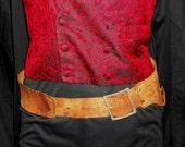 1800's Victorian Steampunk Western Leather Costume Belt - Custom - Size 28-31 - COOL!! - OOAK