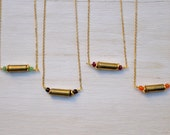 Bridesmaid Set - Fiercely Loved Dainty Necklace - Bullet Shell Necklace - Layering Necklace