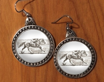 Horse earrings,Race Horse Earrings