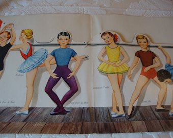 Ballet Dancer Paper Dolls from the '50s