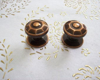 Italy Brass knobs in high quality.Brass shaded copper.Turned brass.Knobs chiselled brass copper.Diam.mm.32.price for 1 knob.art.63