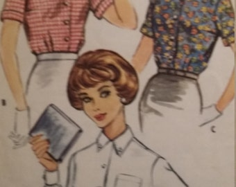 Vintage McCalls 5119 Sewing Pattern Size 13 Bust 33 Blouses