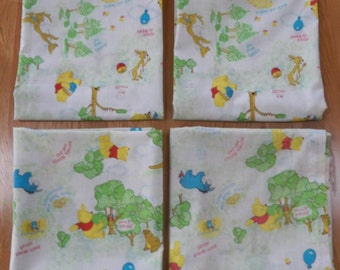 Vintage Sears~WINNIE THE POOH~Curtains 2 Pair~4 Panels 82 x 45 (Each Pair) Cute!