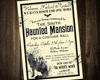 Halloween Party Invitation | Haunted Mansion Invitation | Halloween Invitation | Custom Digital Invitation