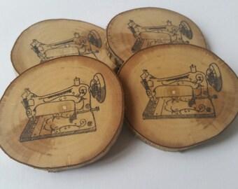 Vintage sewing machine sewing themed fridge magnet, refrigerator magnet, singer sewing machine