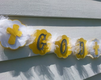 SALE, SALE..Sale...While Supplies Last...God Bless Banner, Baptism banner, Confirmation Banner, First Communion Banner