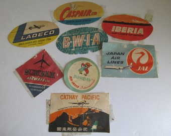 Vintage Luggage Suitcase Stickers Worlld Traveler Vintage Airplane Luggage Case Stamps