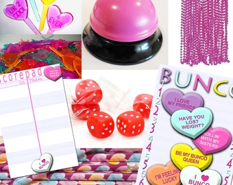 Valentine's Day Bunco Party Package