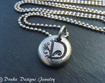Personalized initial necklace monogram bridesmaid gift for her custom jewelry