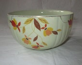 "Hall Jewel Tea AUTUMN LEAF 6"" Radiance Mixing Bowl, Mary Dunbarton Homemakers (ca. 1930s)"