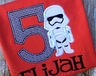 Storm Trooper Birthday - Red