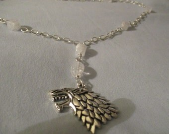 GOT inspired 'Winter is here' Charm necklace
