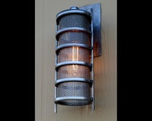 Industrial Handmade 'Tesla' Steampunk Outdoor Porch Lamp Light Edison Bulb Machine Age Wall Hanging Retro Design Exterior