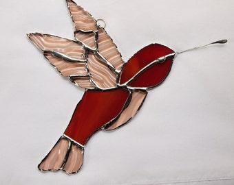 Stained Glass Hummingbird Suncatcher