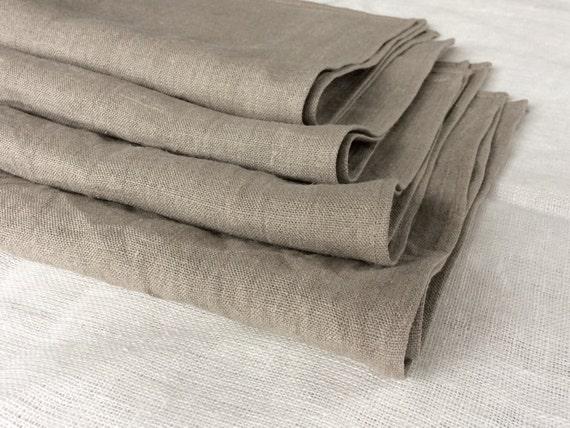 Linen hand towels dish towels kitchen towel set of 4 prewashed gray