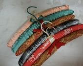 Satin Padded Hangers Set of 6