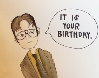 The Office Birthday Card