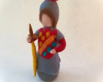 Knight doll. Hand-felted. Wet  felted. Waldorf.Ritter.