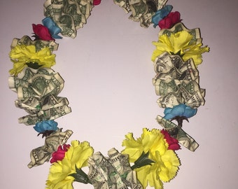 Tri- Color Money Lei