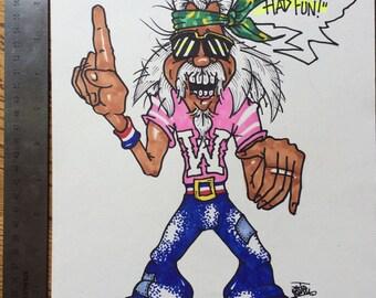 Captain Weird drawing by Jim Perleberg