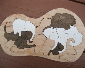 Elephant Peanut Tray Puzzle