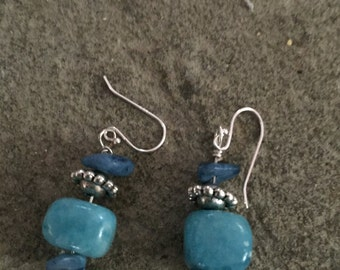 Turquoise  hued Jasper earrings