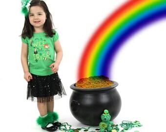 St Patrick's Day Socks, Green Marabou Socks, Green Marabou Fur Trim Socks, Emerald Green Fur Socks, Frilly Baby Socks, Toddler Pageant Socks