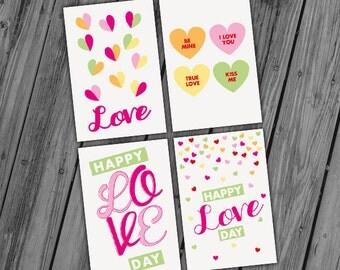 Printable Valentine Cards, Printable Valentine Notes, Love Notes, Valentines Day Printable, Digital Valentines Card - INSTANT DOWNLOAD